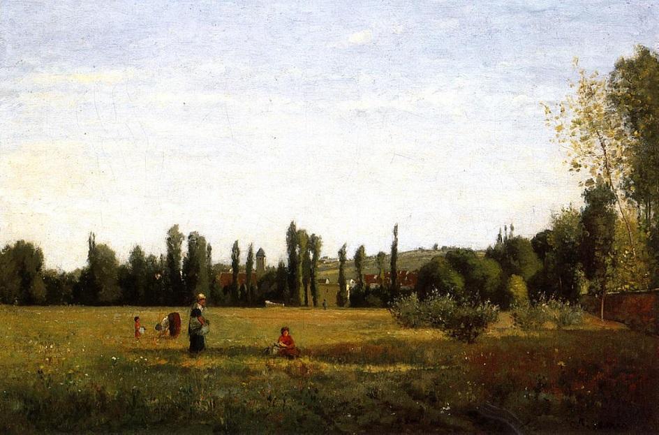 Камиль Писсарро. «Ла Варен-Сент-Илер, вид из Шампиньи», 1863