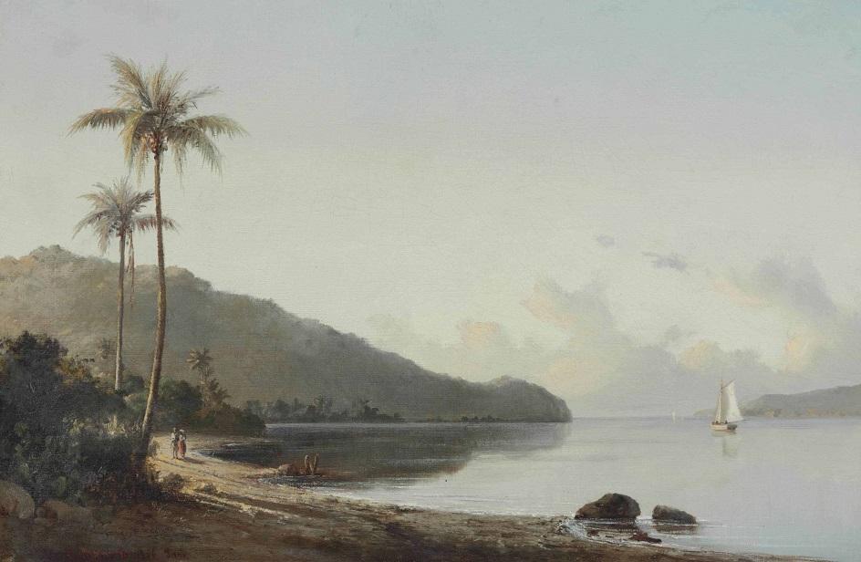 Камиль Писсарро. «Бухта в Сен-Томас, Виргинские острова», 1856