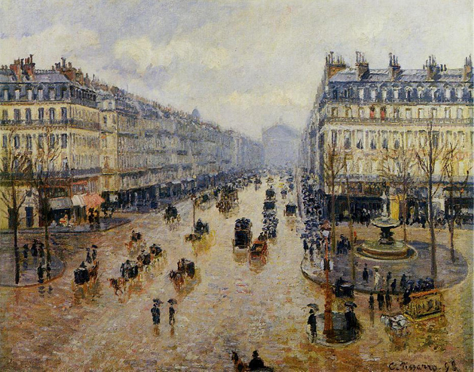 "Камиль Писсарро. ""Авеню де л'Опера эффект дождя"", 1898"