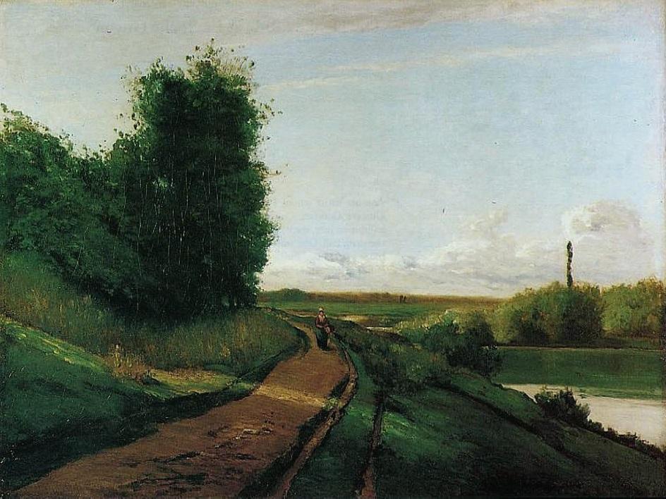 Камиль Писсарро. «Берега Марны», 1864