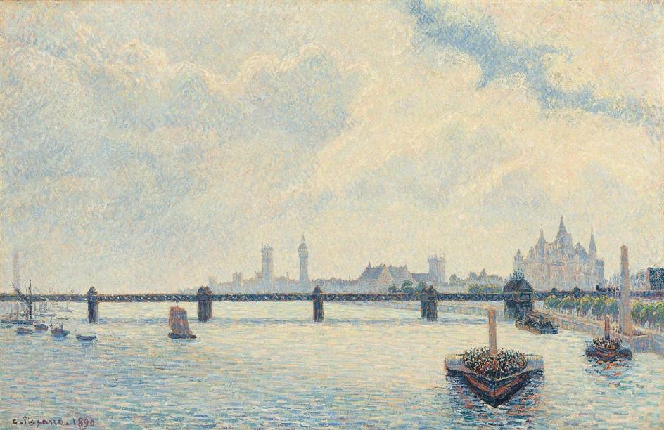 Камиль Писсарро. «Мост Чаринг-Кросс, Лондон», 1890
