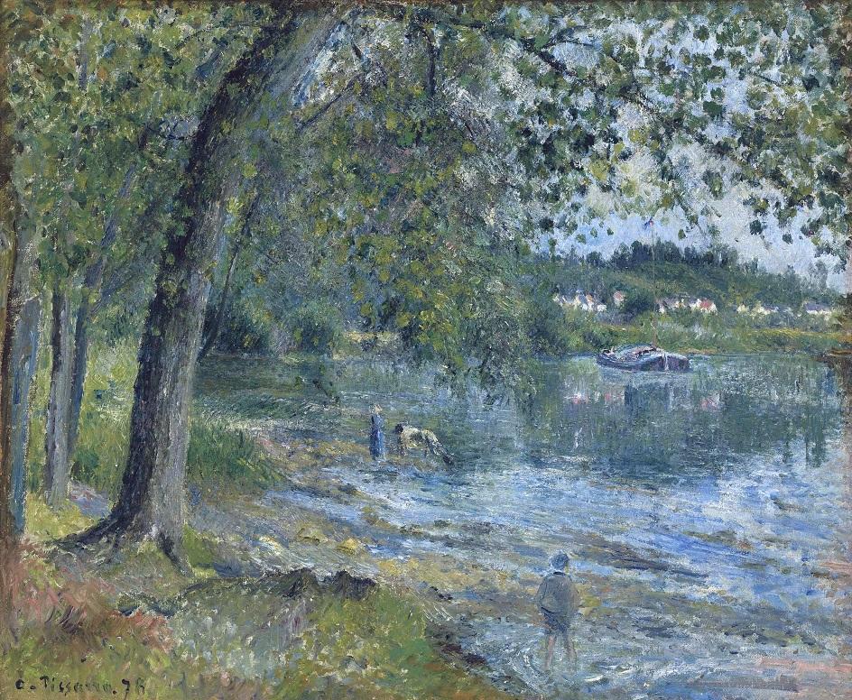 Камиль Писсарро. «Берега реки Уаза в Овер-сюр-Уаз», 1878