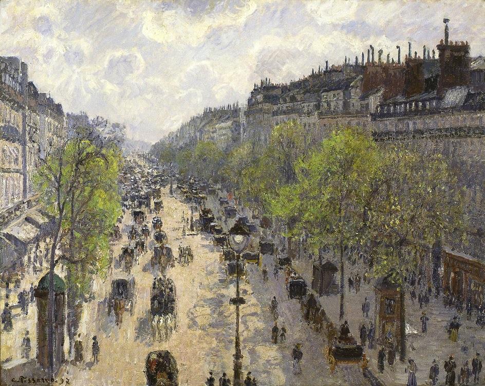 Камиль Писсарро. «Бульвар Монмартр, весеннее утро», 1897