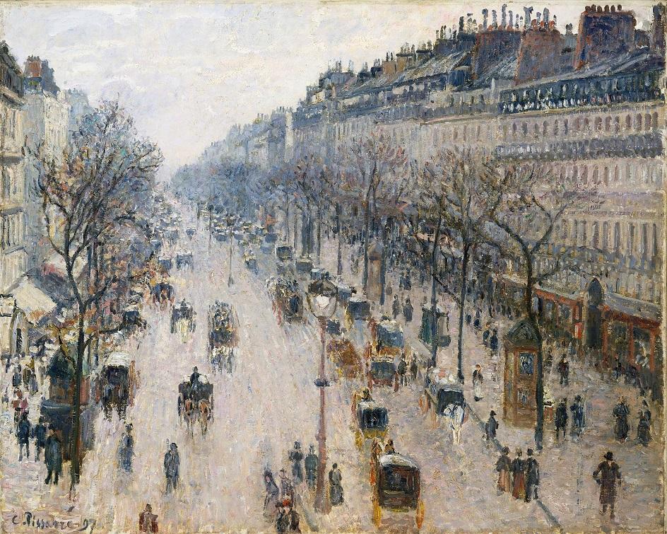 Камиль Писсарро. «Бульвар Монмартр, зимнее утро», 1897