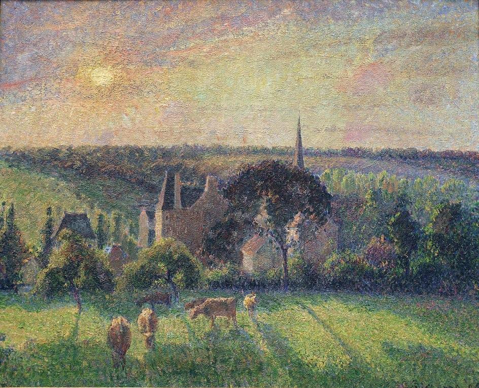 Камиль Писсарро. «Пейзаж в Эраньи», 1897
