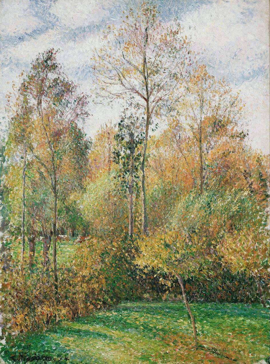 Камиль Писсарро. «Тополя. Осень», 1894