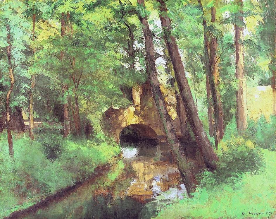 Камиль Писсарро. «Маленький мост, Понтуаз», 1875