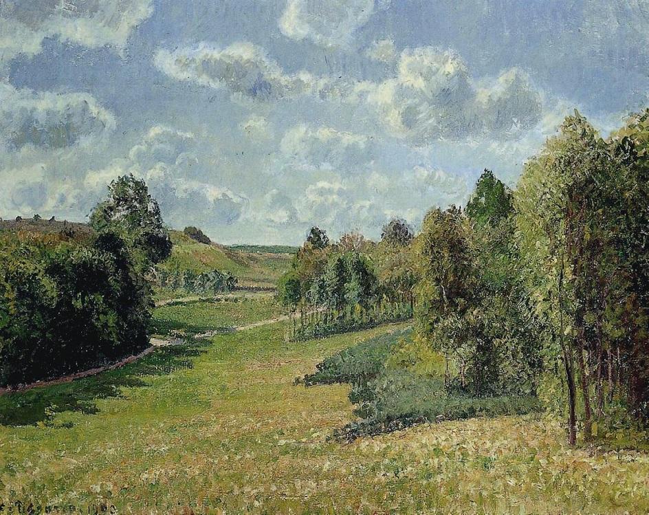 Камиль Писсарро. «Луга Берневаля, утро», 1900