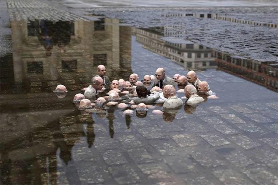 Политики обсуждают глобальное потепление, Исаак Кордал, Берлин, Германия