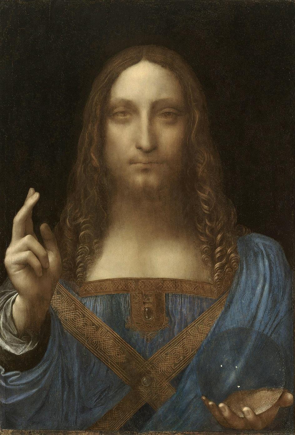 Леонардо да Винчи. Картина «Спаситель мира», 1499