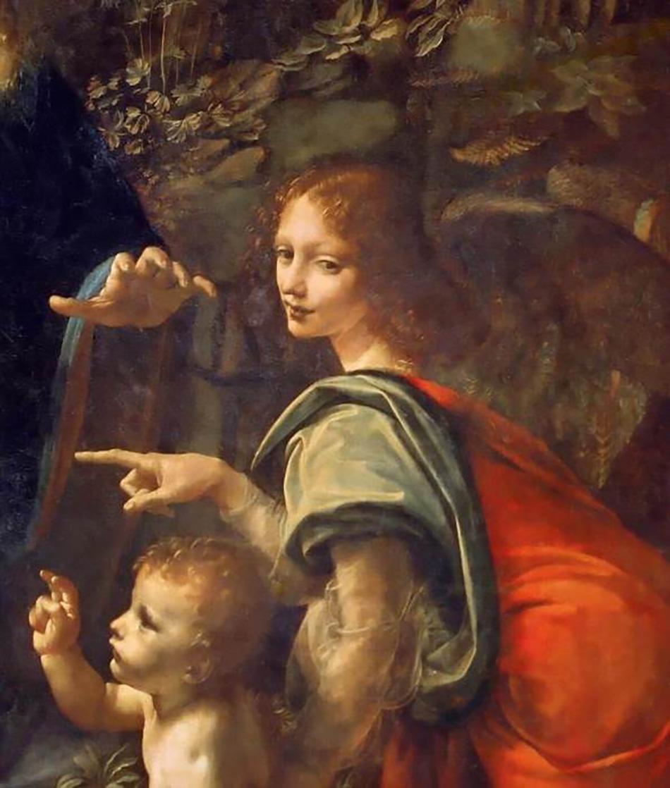 Леонардо да Винчи. Мадонна в скалах (фрагмент). 1483-1486 гг. Лувр, Париж